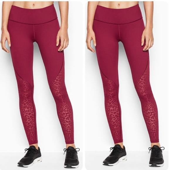 4390ab349fa72 Victoria's Secret Pants | New Victoria Sport Animal Print Mesh ...